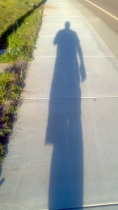 Just me, and my shadow